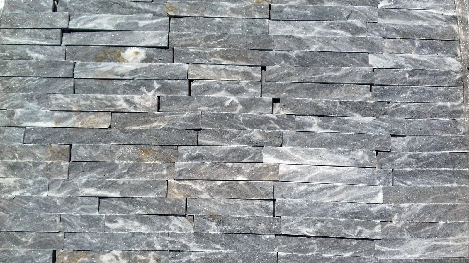 Sivo-beli Dekorativni prirodni kamen za oblaganje zidova